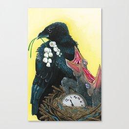 Ravens & Lilies Canvas Print