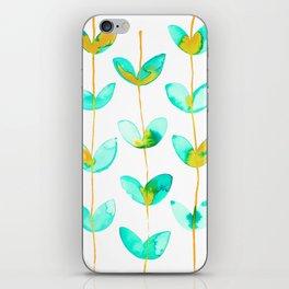 corazones enlazados blue iPhone Skin