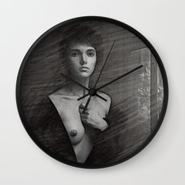nude pencil 01 Wall Clock