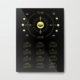 2018 Cosmic Calendar Metal Print