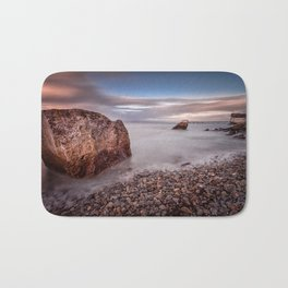 Evening at Knab rock in Mumbles Bath Mat