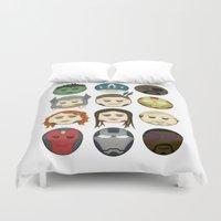 avenger Duvet Covers featuring Avenger Emojis :) by jozi.art