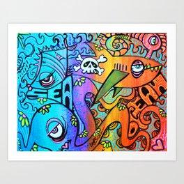 Ocean By The Sea Art Print