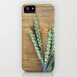 green ears of wheat iPhone Case