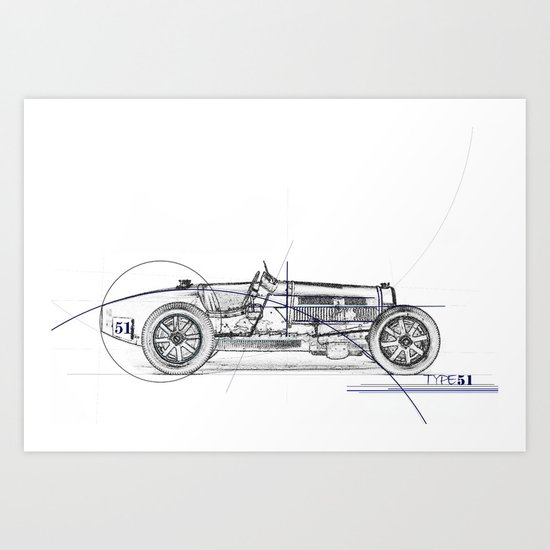 RennSport Speed Series: Type 51 Art Print