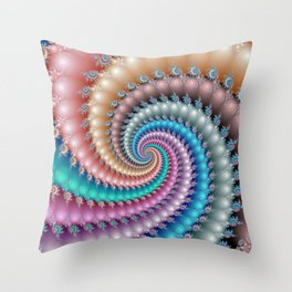 Fractal Mandelbrot Spyral Throw Pillow