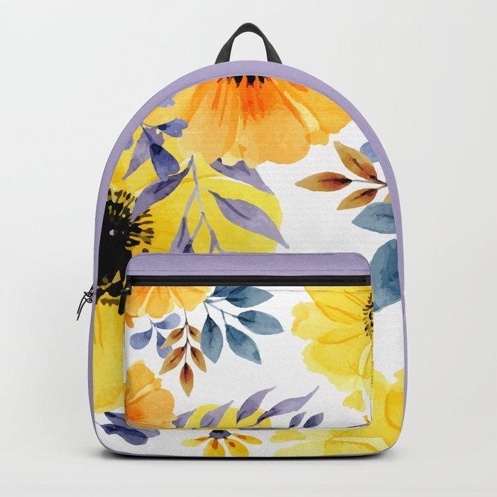 FLOWERS WATERCOLOR 10 Backpack