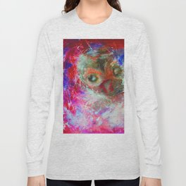 Abstract Owl   #society6 #decor #buyart Long Sleeve T-shirt