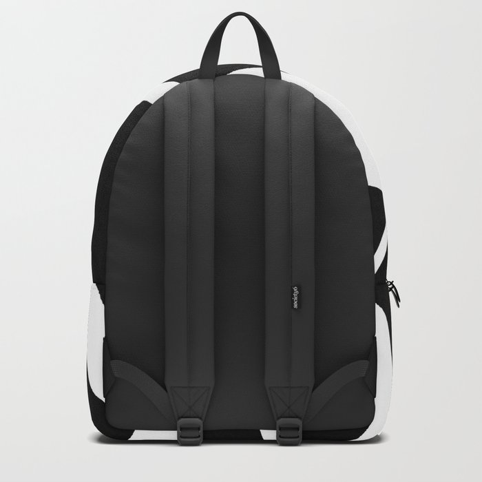 Geometric Line Abstract - Black White Backpack