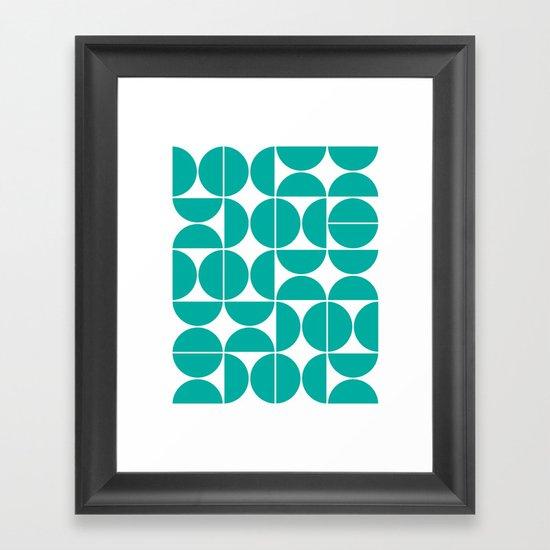 Mid Century Modern Geometric 04 Turquoise by theoldartstudio