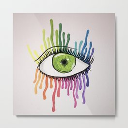 colorful tears Metal Print