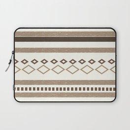 Western Pattern, Out West, Patterns, Brown, Tan, Beige, Shapes, Geometric Western Art Laptop Sleeve