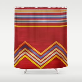 Stripes and Chevrons Ethic Pattern Shower Curtain