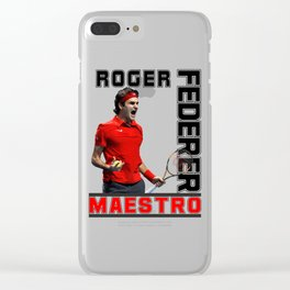 Roger Federer Maestro Clear iPhone Case