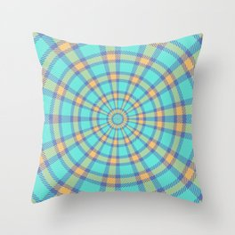 Spiralling Into Plaid Throw Pillow