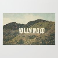 hollywood Area & Throw Rugs featuring Hollywood (color) by CMcDonald