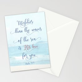 Psalm 93:4 - Mightier Than The Waves Stationery Cards