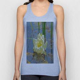 Blue Damselfly Aquatic Lily Unisex Tank Top