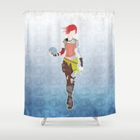 borderlands Shower Curtains featuring Borderlands 2 - Lilith by LightningJinx
