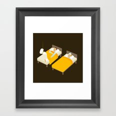 Sick In Bed Framed Art Print