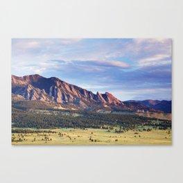 Boulder Colorado Flatirons Canvas Print