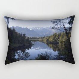Perfect Symmetry - A New Zealand Mountain View Rectangular Pillow
