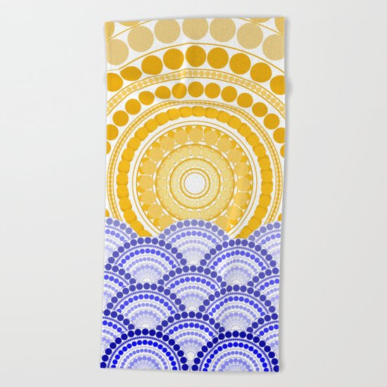 LIGHT OF DAWN (abstract seascape tropical) Beach Towel