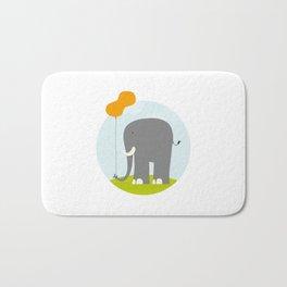 An Elephant With a Peanut Balloon Bath Mat