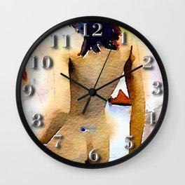 Watercolor Manikin Wall Clock