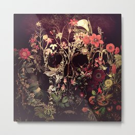 Bloom Skull Metal Print