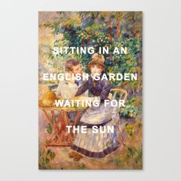 In the Garden with the Walrus Canvas Print