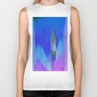 waterfall Biker Tanks featuring Waterfall by DuckyB