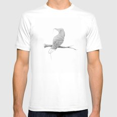 if i was young i'd flee this town... Mens Fitted Tee MEDIUM White