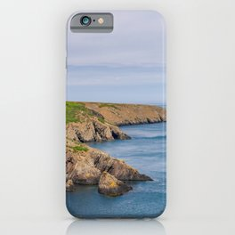 A view across Ramsey Sound, Wales iPhone Case