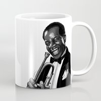 louis Mugs featuring Louis by Simone Bellenoit : Art & Illustration