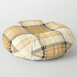 Gold Tartan Floor Pillow