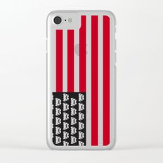 Pugtriotic American Flag Clear iPhone Case