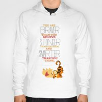winnie the pooh Hoodies featuring stronger, braver, smarter, winnie the pooh by studiomarshallarts