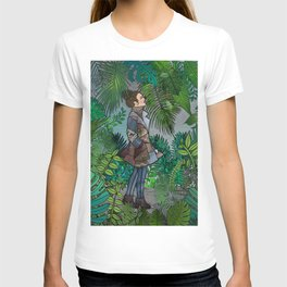 A Winter Walk in a Tropical Greenhouse T-shirt