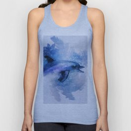 Dolphins Freedom Unisex Tank Top