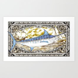 Blue Marlin Art Print