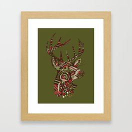 ROAD KILL ~ GREEN Framed Art Print