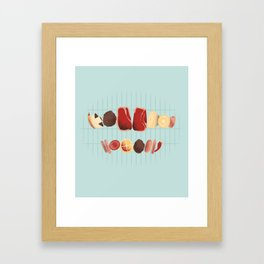Nice Grill Framed Art Print