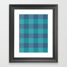 Pixel Plaid - Ice Sheet Framed Art Print