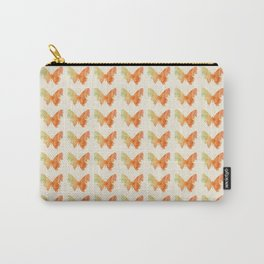 Orange Watercolor Butterfly Carry-All Pouch