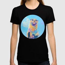 Mister Otter - Colorful Animal Portrait T-shirt