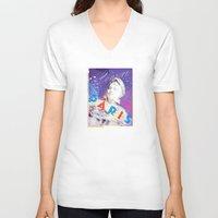 posters V-neck T-shirts featuring Paris Posters - Napoleon by G_Stevenson