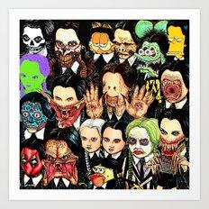 Every Wednesday Addams Art Print