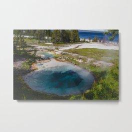Bluebell Pool, West Thumb Geyser Basin, Yellowstone National Park Metal Print