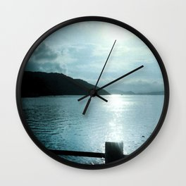 SUNSET RIVER Wall Clock